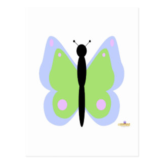 Blue And Green Butterfly Postcard