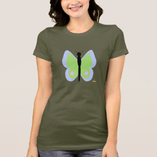 Blue And Green Butterfly T-Shirt