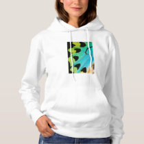 blue and green butterfly wing hoodie