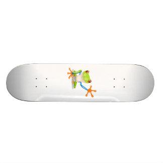 Blue and Green Cartoon Frog Custom Skate Board