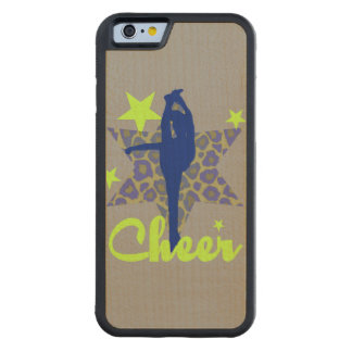 Blue and Green Cheerleader Carved Maple iPhone 6 Bumper Case