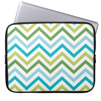 Blue and Green Chevron   |   Laptop Sleeves