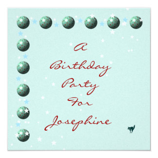 Blue and Green Christmas Birthday Spheres Card