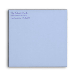 """Blue and Green Circles Envelope for 5.25"""" Sq. Size"""
