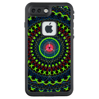 Blue and Green Circular Design LifeProof FRĒ iPhone 7 Plus Case