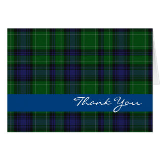 Blue and Green Clan Abercrombie Thank You Card
