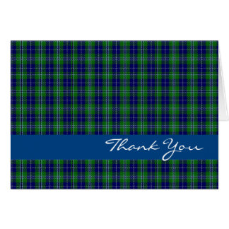 Blue and Green Clan Douglas Thank You Card