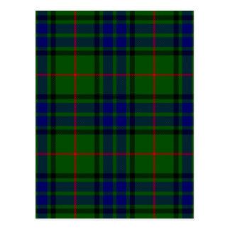 Blue and Green Clan Lauder Tartan Postcard