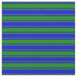 [ Thumbnail: Blue and Green Colored Lined/Striped Pattern Fabric ]