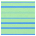 [ Thumbnail: Blue and Green Colored Lines Fabric ]