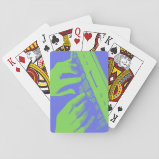 Blue and Green Court Reporter Steno Machine Playing Cards