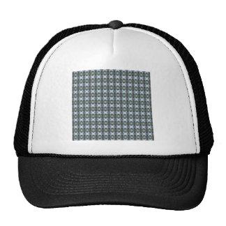 Blue And Green Diamond Pattern Trucker Hat