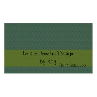Blue And Green Dots Double-Sided Standard Business Cards (Pack Of 100)
