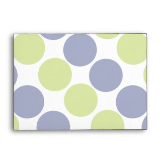Blue And Green Dots Envelope