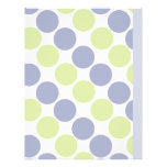 Blue And Green Dots Letterhead Design