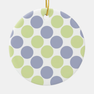 Blue And Green Dots Ornament