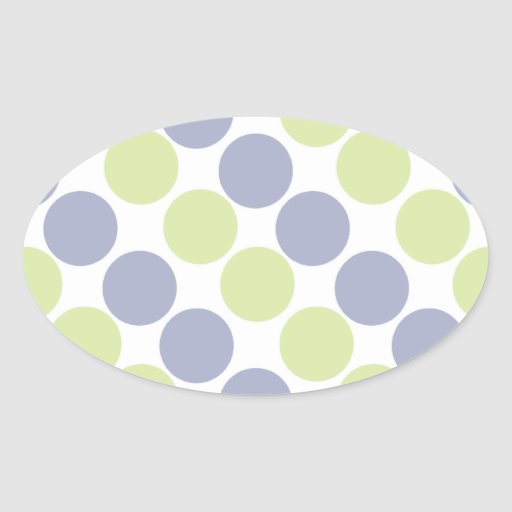Blue And Green Dots Stickers