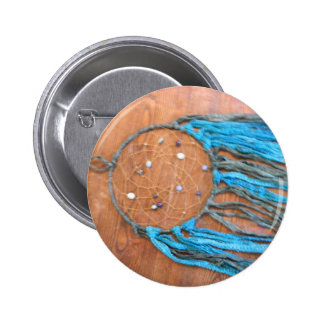 Blue and Green Dreamcatcher Pinback Button
