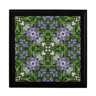 Blue and green floral kaleidoscope gift box