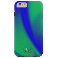 Blue and Green Flush Persoanalized Tough iPhone 6 Plus Case