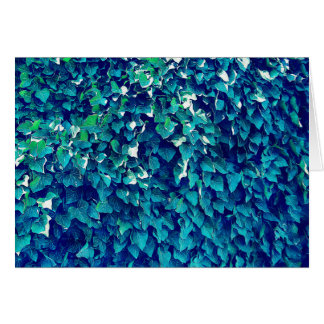 Blue And Green Foliage Card