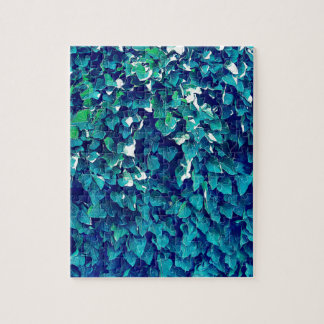 Blue And Green Foliage Jigsaw Puzzle