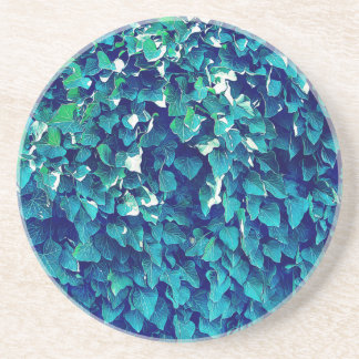 Blue And Green Foliage Sandstone Coaster