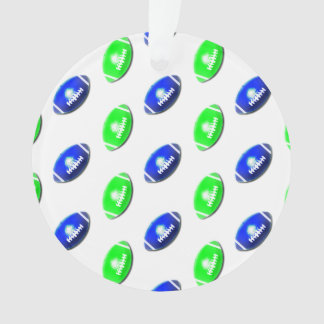Blue and Green Football Pattern