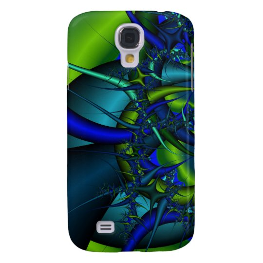 Blue and Green fractal art case for HTC Vivid