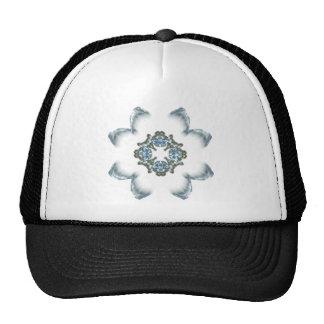 Blue and Green Fractal Art Flower Trucker Hat