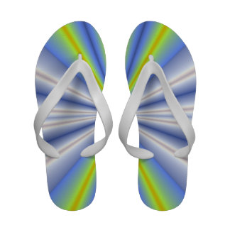 Blue and green fractal rays sandals