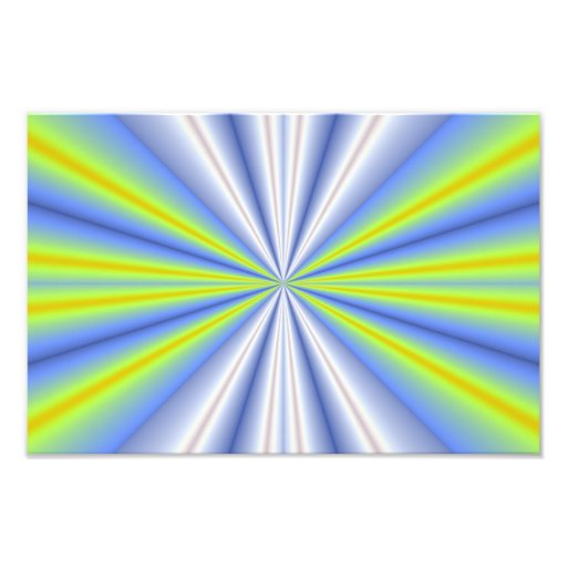 Blue and green fractal rays photograph