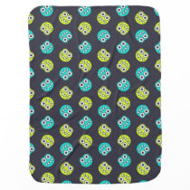 Blue And Green Funny Bugs Pattern Receiving Blanket