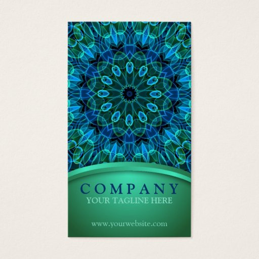 Blue and Green Gems Business Card
