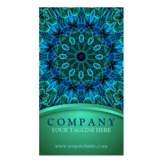 Blue and Green Gems Double-Sided Standard Business Cards (Pack Of 100)