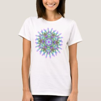 Blue and green geometric figures. T-Shirt