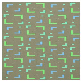 Blue and Green Geometric Pattern Fabric