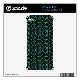 Blue and Green Geometric Patterns and Shapes iPhone 4 Decals