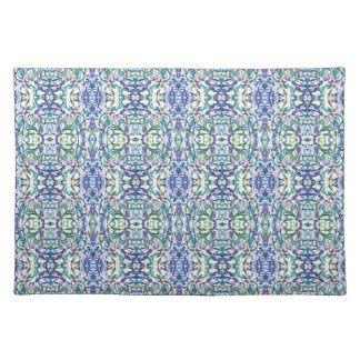 Blue and Green Geometric Place Mats