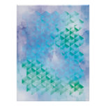 Blue and Green Geometric Poster