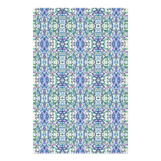 Blue and Green Geometric Stationery