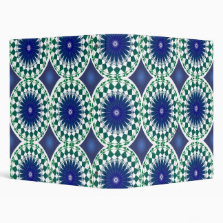Blue and Green Geomteric 3 Ring Binder