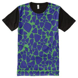 Blue and Green Giraffe Spots Graphic T-Shirt