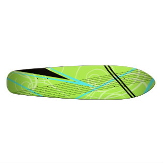 Blue and Green Graphic Skateboard Deck