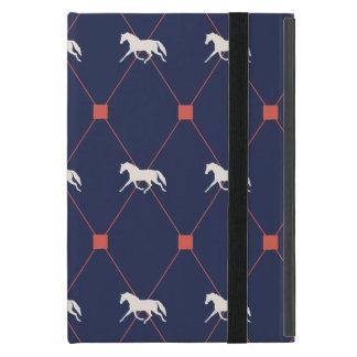 Blue and Green Harleqiun Trotting Horse Pattern Cover For iPad Mini