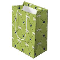 Blue and Green Harleqiun Trotting Horse Pattern Medium Gift Bag