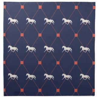 Blue and Green Harleqiun Trotting Horse Pattern Napkin
