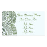 Blue And Green Lace Pack Of Standard Business Cards