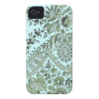 Blue And Green Lace Case-Mate iPhone 4 Case