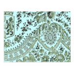 Blue And Green Lace Postcard